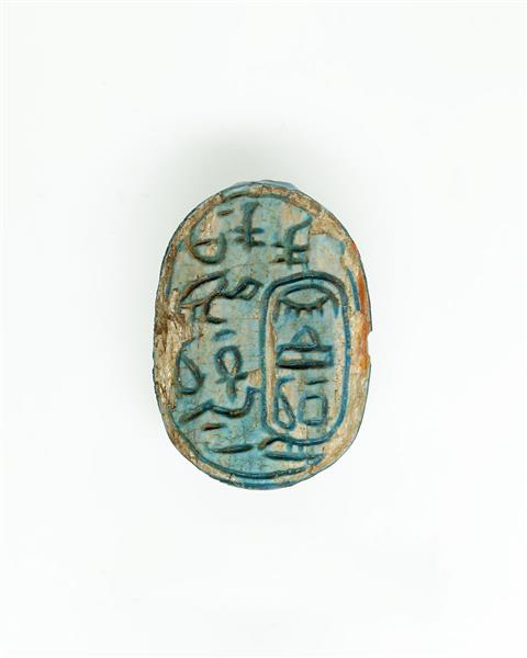 Scarab of the King's Mother Queen Nebuhetepti, c.1802 - c.1640 BC - Ancient Egypt