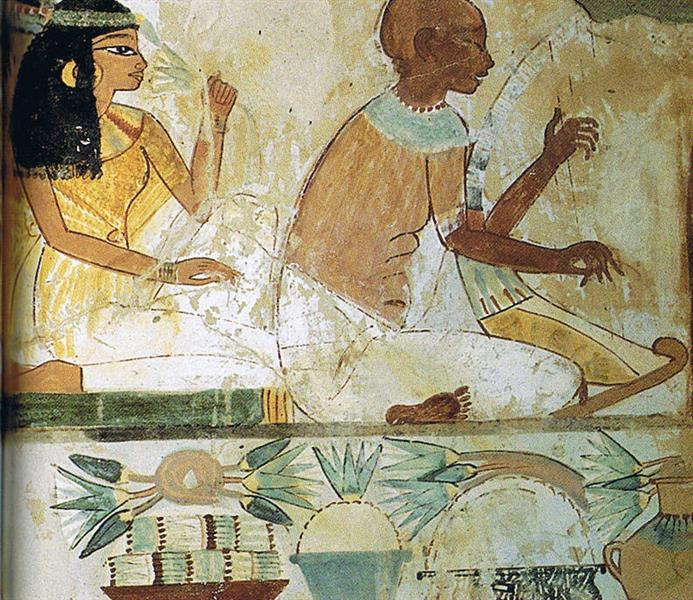 Blinder Musiker, c.1390 BC - Ancient Egyptian Painting