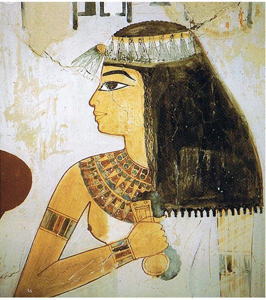 Taui Als Beobachterin Des Opfers, c.1390 BC - Ancient Egypt