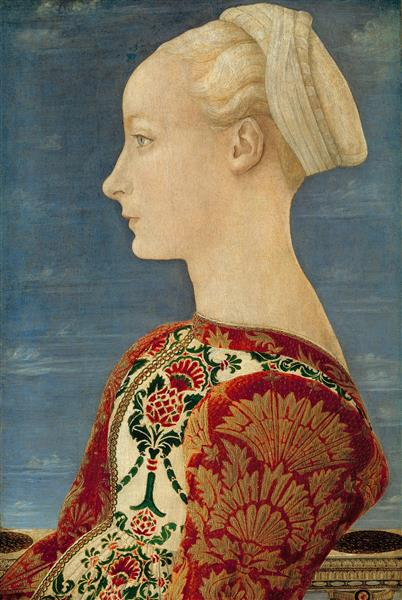 Profile Portrait of a Young Lady - Antonio del Pollaiolo