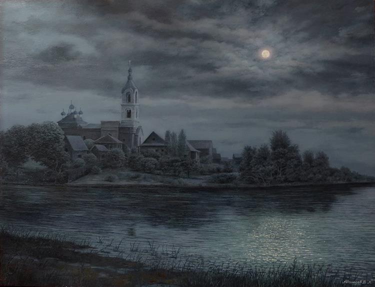Село Поречье в лунную ночь, 2019 - Vlad Avanesov