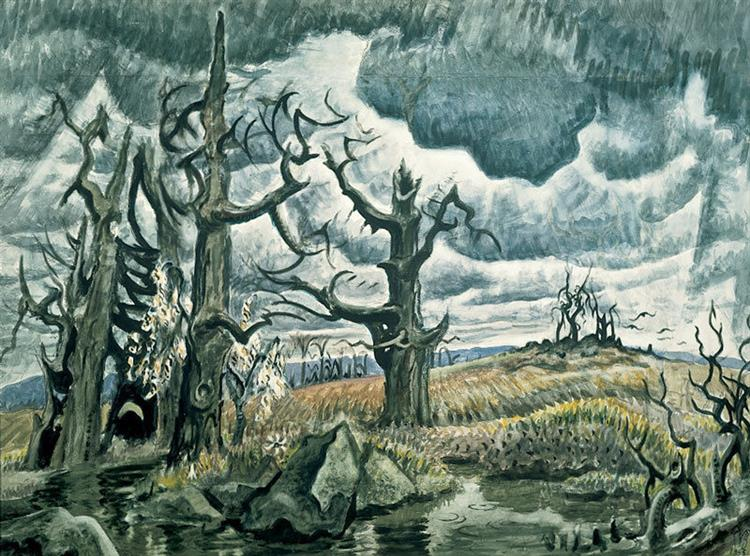 An April Mood, 1946 - 1955 - Charles E. Burchfield
