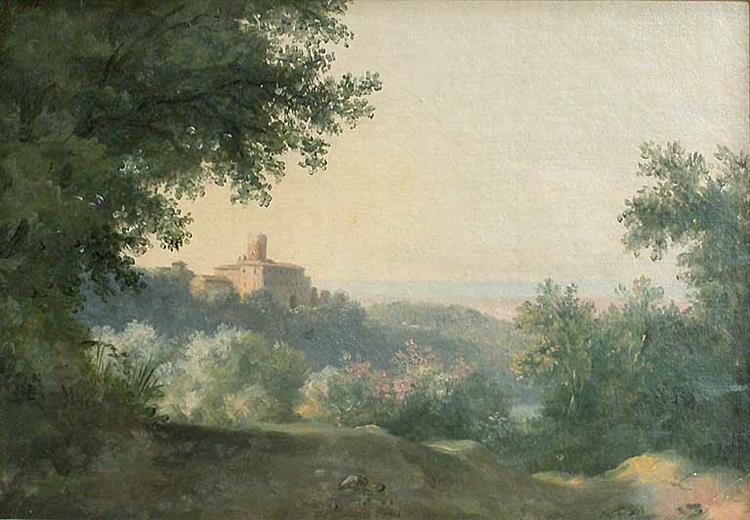 View of the Palace of Nemi, c.1780 - Pierre-Henri de Valenciennes