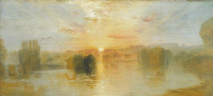 The Lake, Petworth, Sunset; Sample Study, c.1827 - c.1828 - Joseph Mallord William Turner
