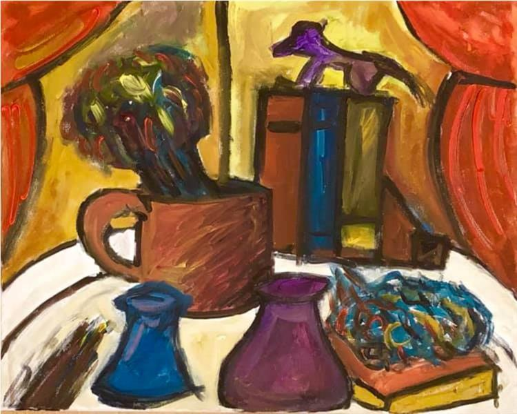 Still Life with Animal Figurine - Mihnea Cernat