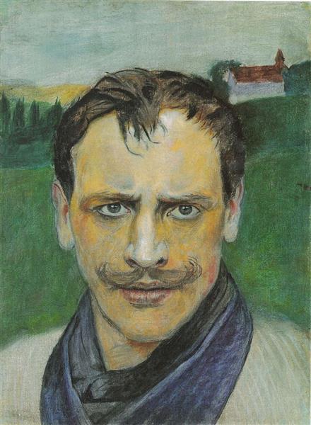 Auto-retrato, c.1896 - Harald Sohlberg