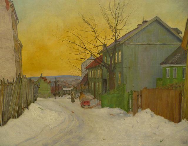 Rua em Oslo - Harald Sohlberg