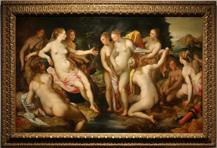 Diana discovers Callisto's Pregnancy, 1599 - Hendrick Goltzius