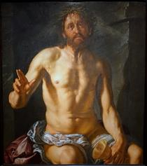 Man of Sorrows with a Chalice (Christ as Redeemer) - Hendrick Goltzius