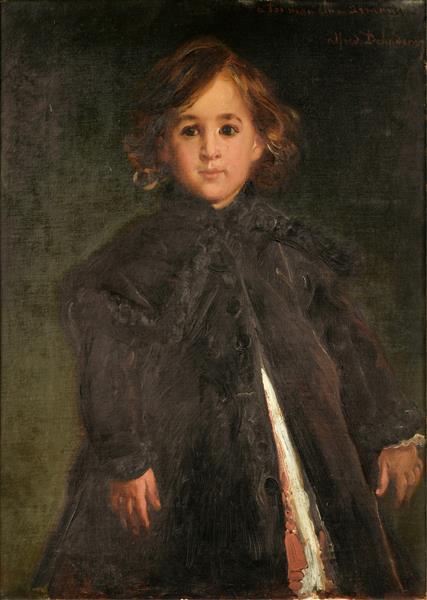 Portrait d'enfant, peut être Alfred, fils aîné de l'artiste, c.1875 - Alfred Dehodencq