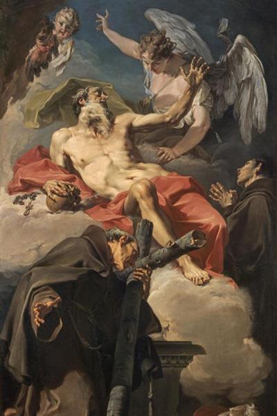 The Apotheosis of Saint Jerome with Saint Peter of Alcántara and an Unidentified Franciscan, c.1725 - Giambattista Pittoni