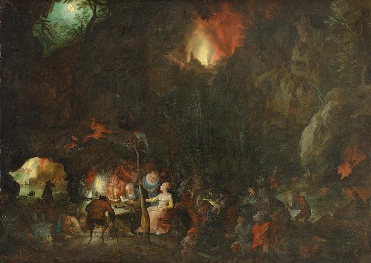 Temptation of St Anthony, 1599 - Jan Brueghel the Elder