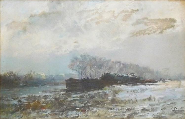Bord de Seine Enneigé - Pierre-Jacques Pelletier