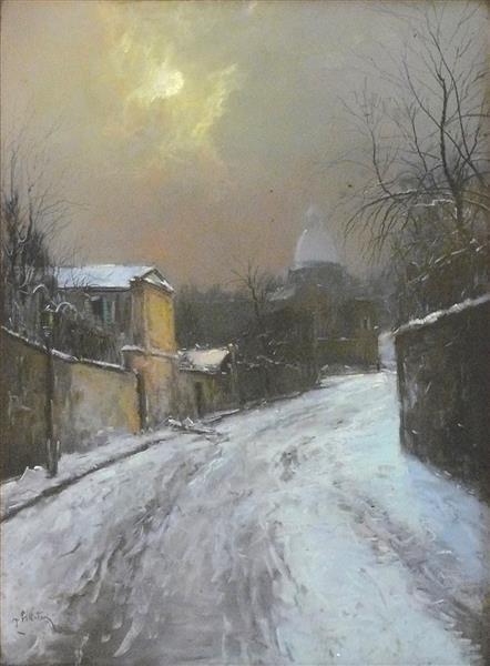 Neige à Montmartre - Pierre-Jacques Pelletier