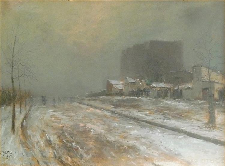 Saint Ouen, le Marché Malik, l'hiver, 1914 - Pierre-Jacques Pelletier