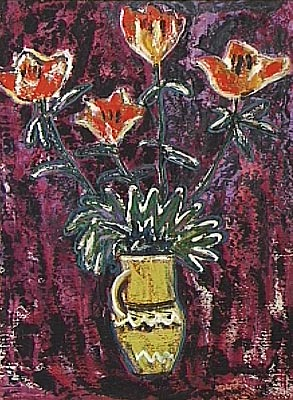 Vase with flowers, 1967 - Elena Bontea