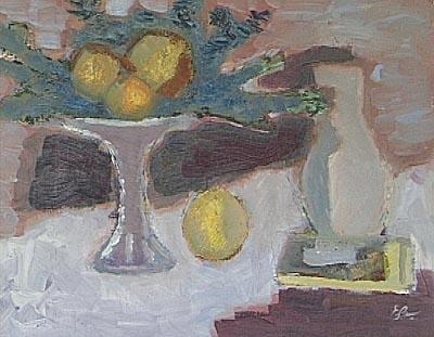 Still life with fruits, 1985 - Elena Bontea