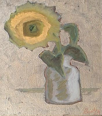 Sunflower in white vase, 1998 - Elena Bontea