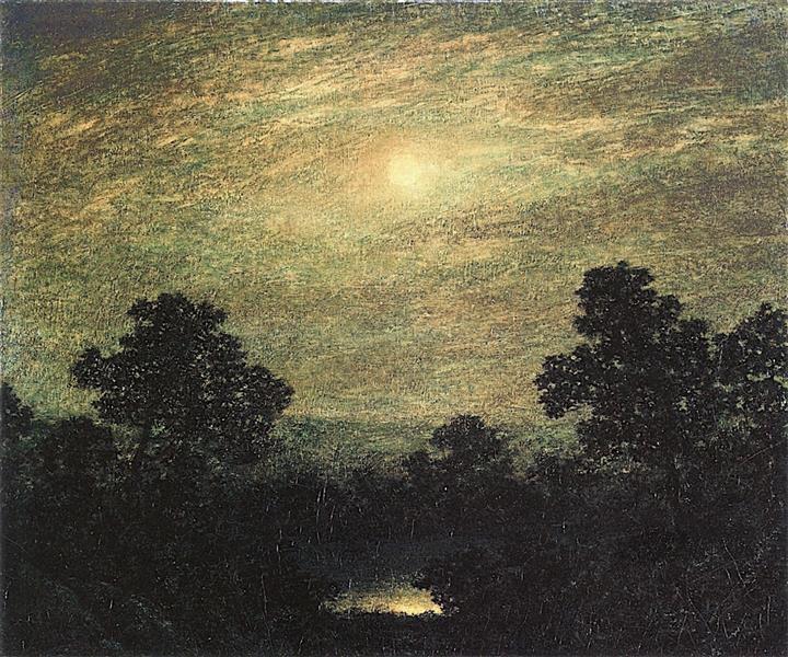 Brook by Moonlight, c.1890 - c.1891 - Ralph Blakelock