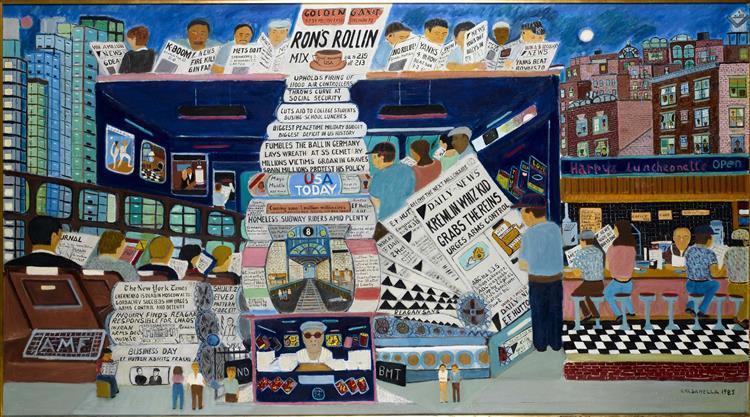 Ron's Rollin', 1985 - Ralph Fasanella