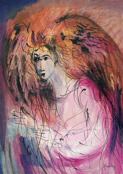Angel of the Annunciation, c.1984 - Maria Bozoky