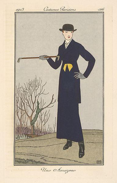 An Amazon, from Costumes Parisiens, 1913 - George Barbier