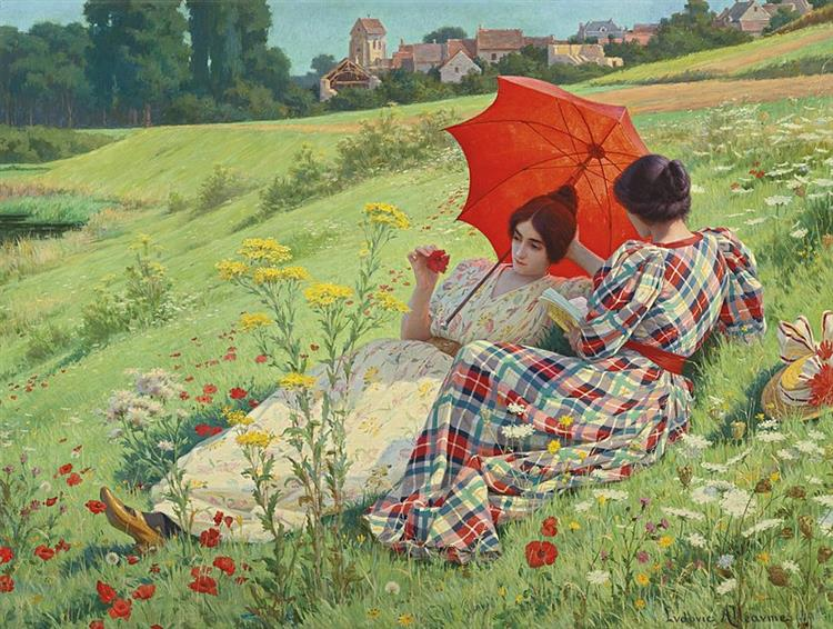 In the countryside, 1910 - Ludovic Alleaume