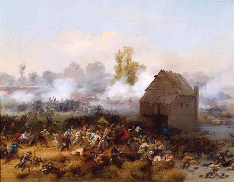 Lord Stirling Leading An Attack Against the British in Order to Buy Time for Other Troops to Retreat at the Battle of Long Island, 1776., 1858 - Alonzo Chappel
