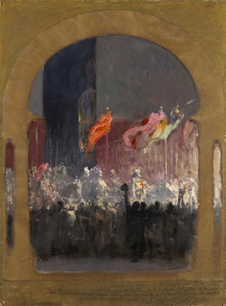 Le Comte De Toulouse Fait Bénir Ses Étendards À Saint-Sernin - Жан-Жозеф Бенжамен-Констан