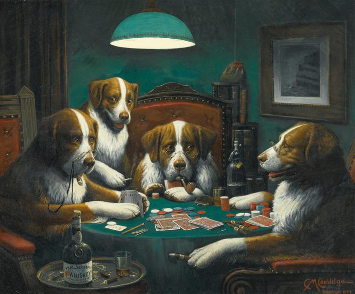 Poker Game, 1903 - Cassius Marcellus Coolidge