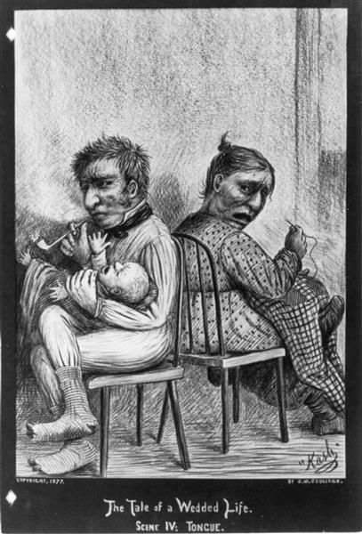 Scene IV - Tongue. Couple Arguing, 1877 - Cassius Marcellus Coolidge