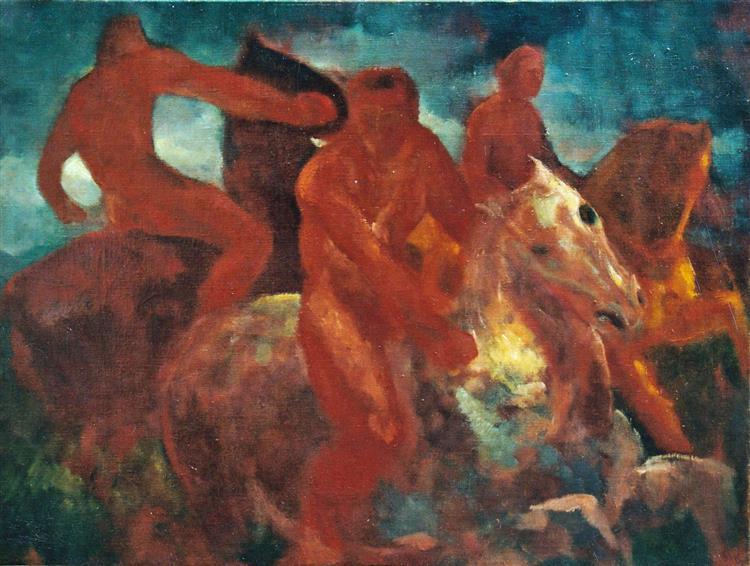 Horsemen, c.1961 - Rudolf LÁNG