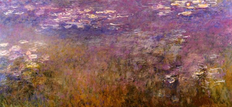Agapanthus (center panel), c.1920 - Claude Monet