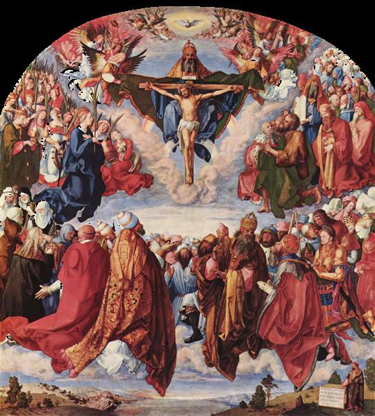 Adoration of the Trinity (Landauer Altarpiece), 1511 - Albrecht Durer