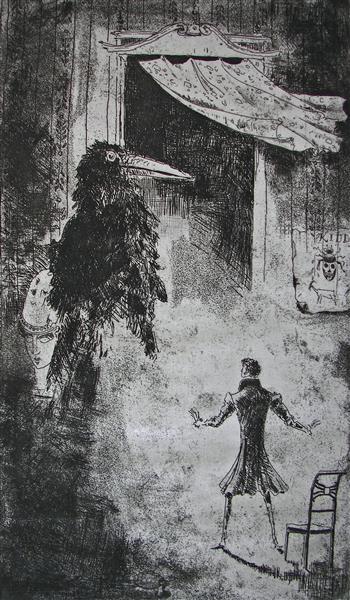 E.A.Poe:The Raven, c.1969 - Rudolf LÁNG