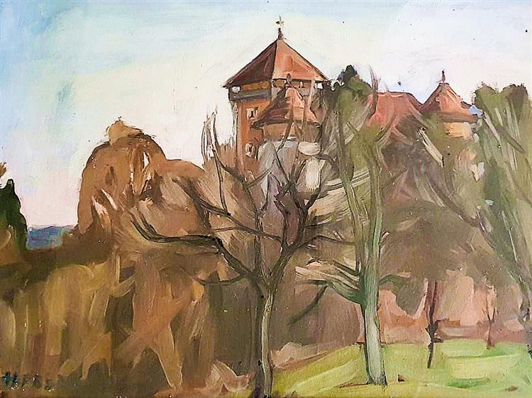 Dubovac from  a nearby orchard, 1993 - Alfred Freddy Krupa