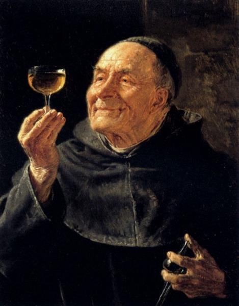 A Good Drink - Eduard von Grützner