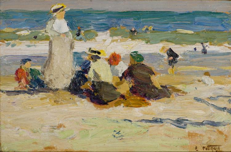 At the Beach - Edward Henry Potthast