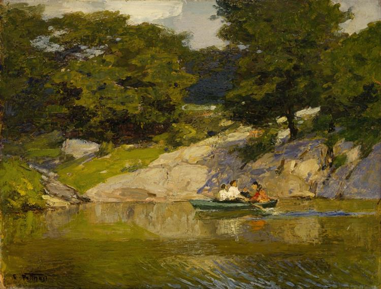 Boating in Central Park, 1905 - Edward Henry Potthast