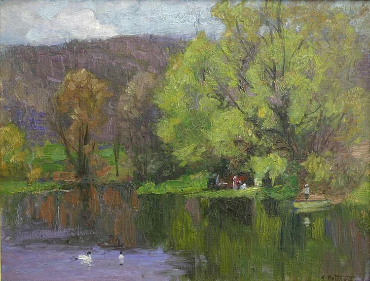 The Duckpond - Edward Henry Potthast