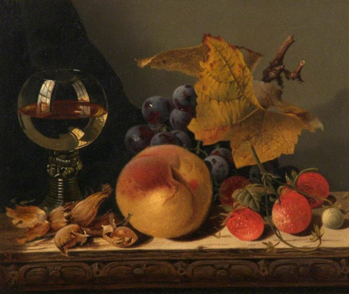 Still Life with Fruit, c.1880 - Edward Ladell