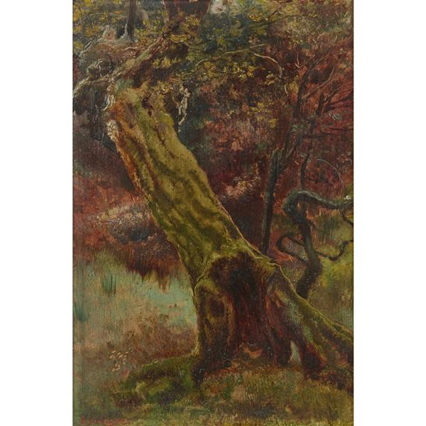 An Old Stump in Epping Forest - Edward Robert Hughes