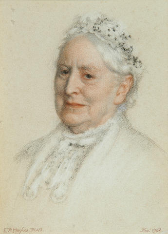 Portrait of an Elderly Lady - Edward Robert Hughes