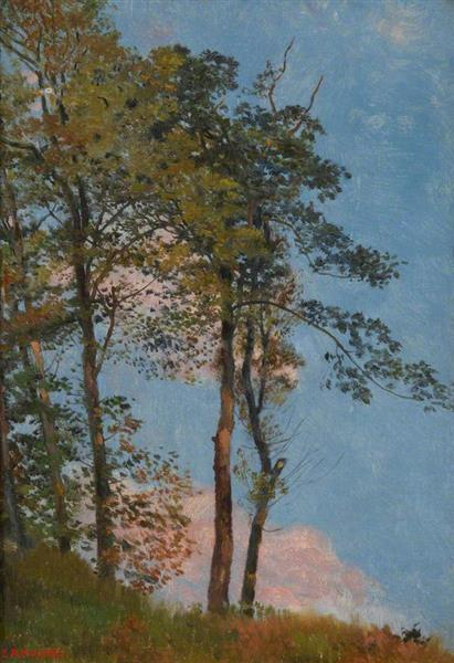 Landscape with Trees - Edward Robert Hughes