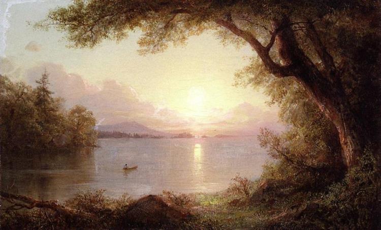 Landscape In The Adirondacks - Frederic Edwin Church
