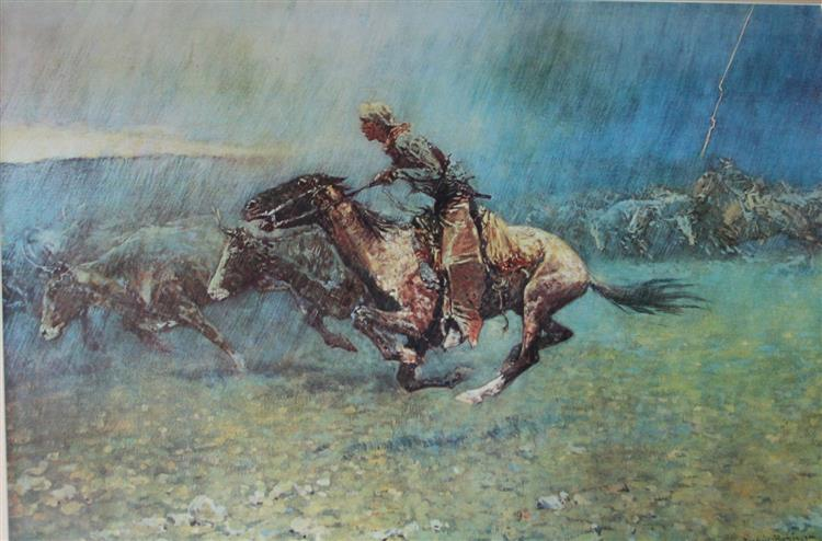 Stampede, 1908 - Frederic Remington