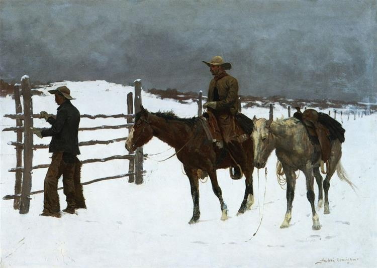 The Fall Of The Cowboy - Frederic Remington