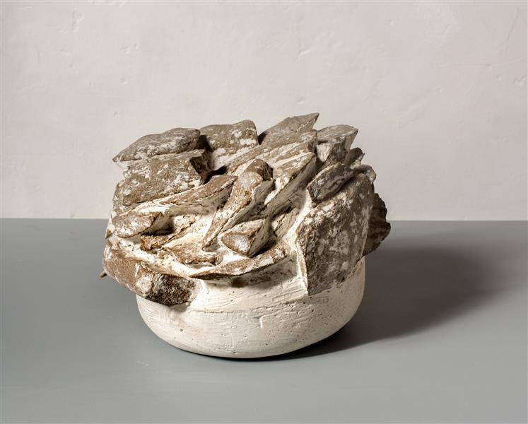 'Fragments' by Carlos Granger - abstract sculpture art in plaster & broken brick, 1995 - Carlos Granger