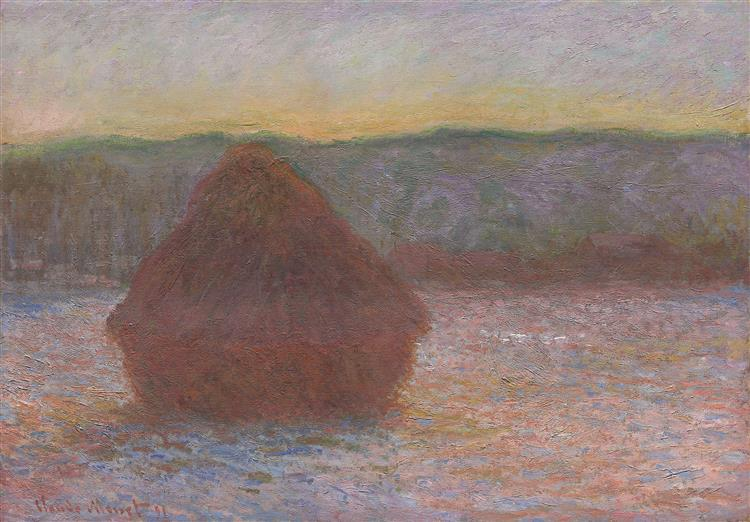 Stack of Wheat (Thaw, Sunset), 1891 - Claude Monet