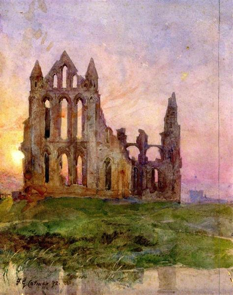 Whitby Abbey, 1872 - Frederick George Cotman